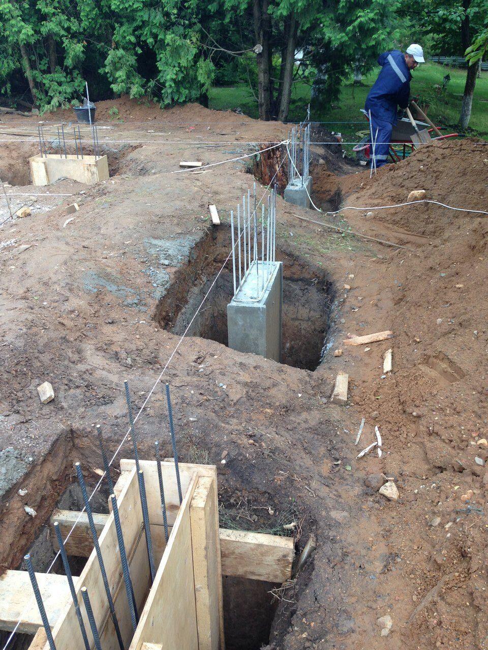 Строительство фундамента монолитная плита Мытищинский район